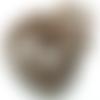 Lot 20 perles en verre 12 mm marron-noir-marbré