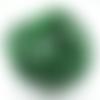 Lot 20 perles en verre 12 mm vert-noir-marbré