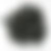 Lot 30 perles rondelles-soucoupes en bois rondes de 12 mm noir