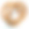 Lot 15 perles en verre nacré rondes 14 mm cuivre-caramel