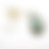 Kit bijoux diy pendentif goutte pierre de gemme avec notice montage métal argent