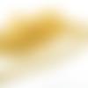 1 mètre de chaîne métal, maillons 14x9 mm belle finition doré martelée