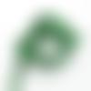 Lot 10 perles rondes pierre de gemme vert émeraude de 8 mm