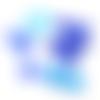 Lot de perles cristal, facettes de bohème identique à la photo bleu-saphir