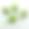 Lot 4 perles pierre de gemme croix 28x21mm vert