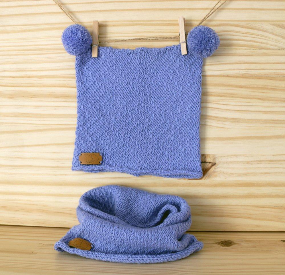 Bonnet bébé et écharpe snood