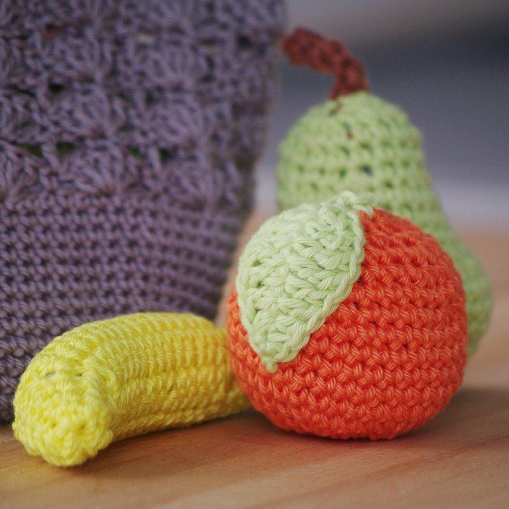 Patron dinette crochet, fruit crochet, cadeau enfant, sac filet #7