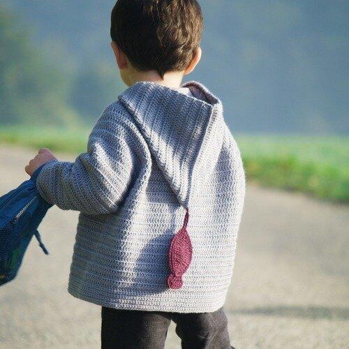 Patron De Crochet Gilet Capuche Enfant Modèle Pull Crochet 2
