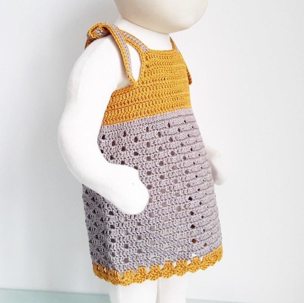 Patron De Crochet Vêtement Bébé Fille Robe été 8