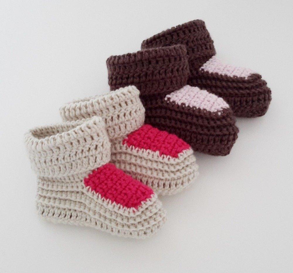 Patron De Crochet Chaussons De Bébé Pdf Crochet Cadeau De Naissance 11