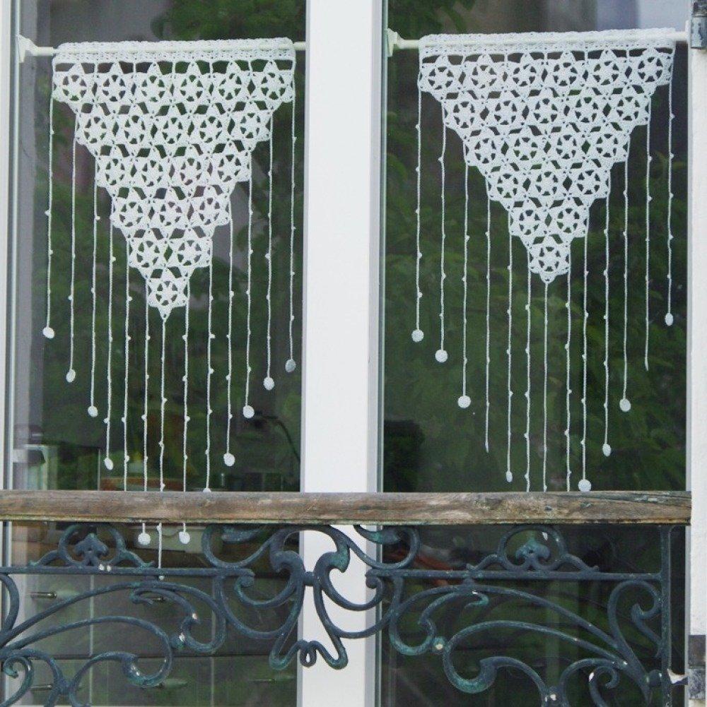 Patron De Crochet Rideaux Dentelle Habillage Fenetre Diy Deco 23 Un Grand Marche
