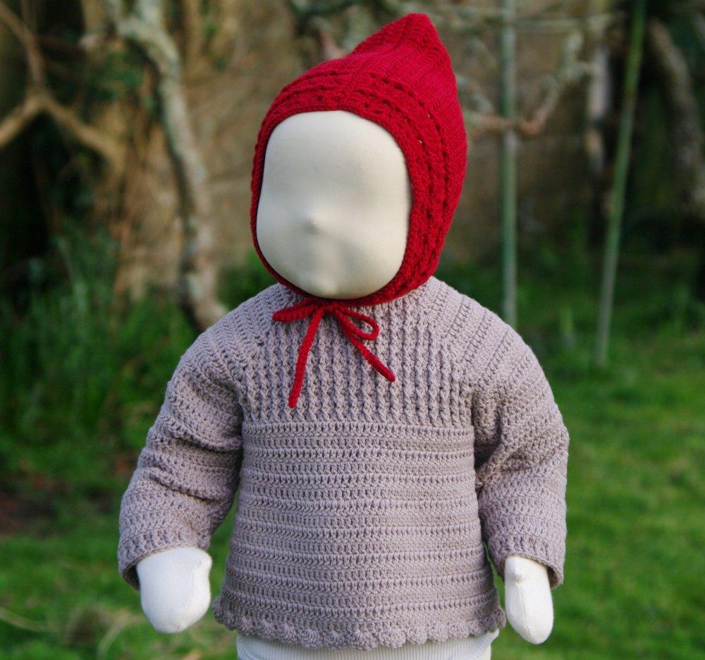 Patron de crochet, gilet bébé, point relief, cadeau naissance, #14