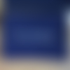 "Pochette zippée bleu marine ""kit de survie"""
