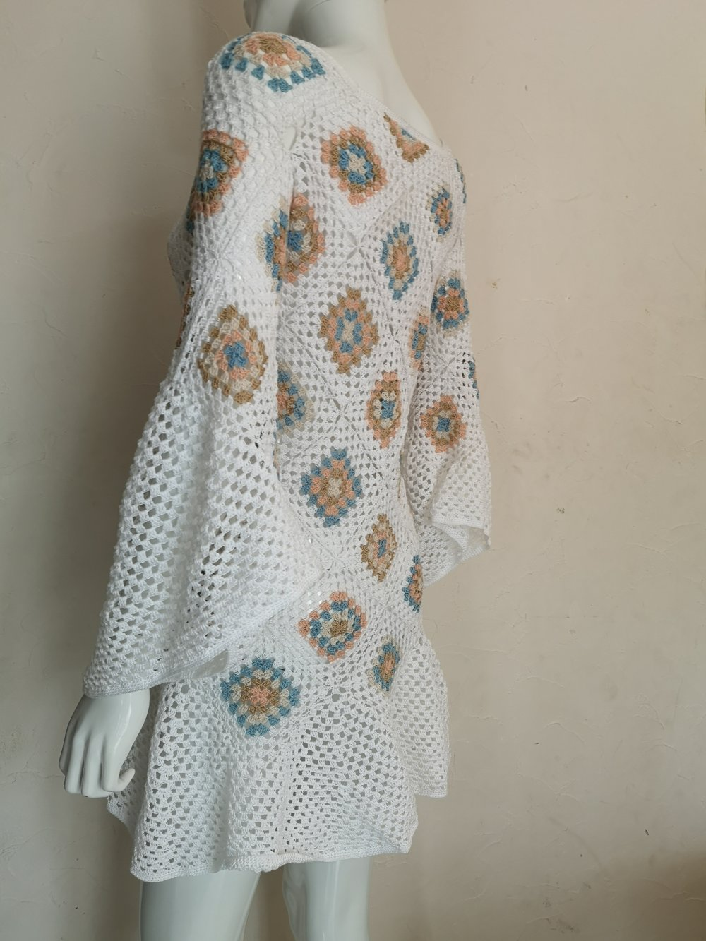 Robe au crochet seventies