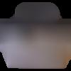 Petit cabas dv01 suédine gris souris et pompon en cuir