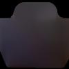 Petit cabas dv01 suédine noir et pompon en cuir
