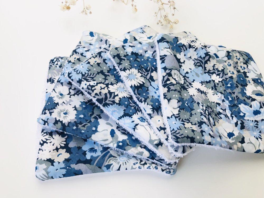 Lingettes lavables Liberty Thorpe bleu