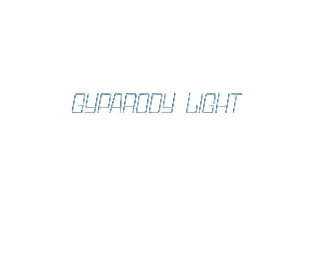 Gyparody Light™ alphabet pour machine à broder 16 tailles (RLA)