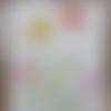 Tissu lin décoratif fleur -  ref 107