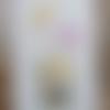 Tissu lin décoratif fleur -  ref 109