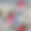 Tissu lin coton animaux chouette - ref 127