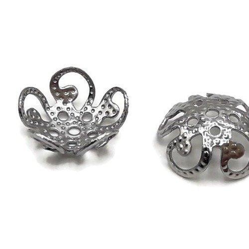 50 coupelles rondes très petites dimensions en acier inoxydable