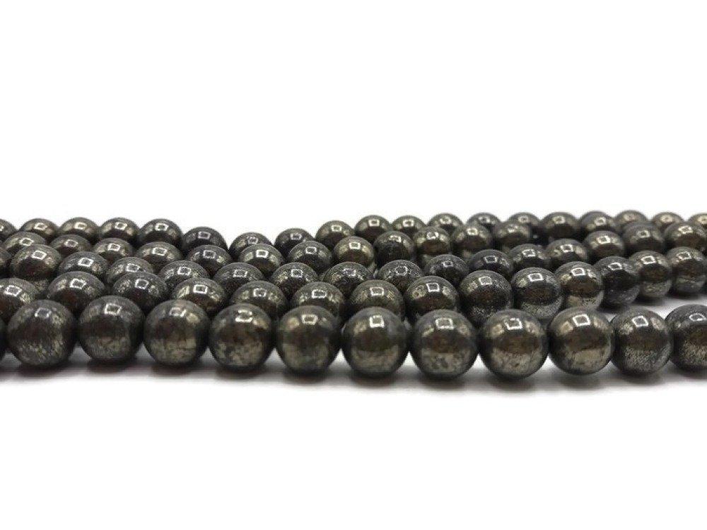 Pyrite naturelle- 48 Perles 8 mm -pierre de gemme- A396