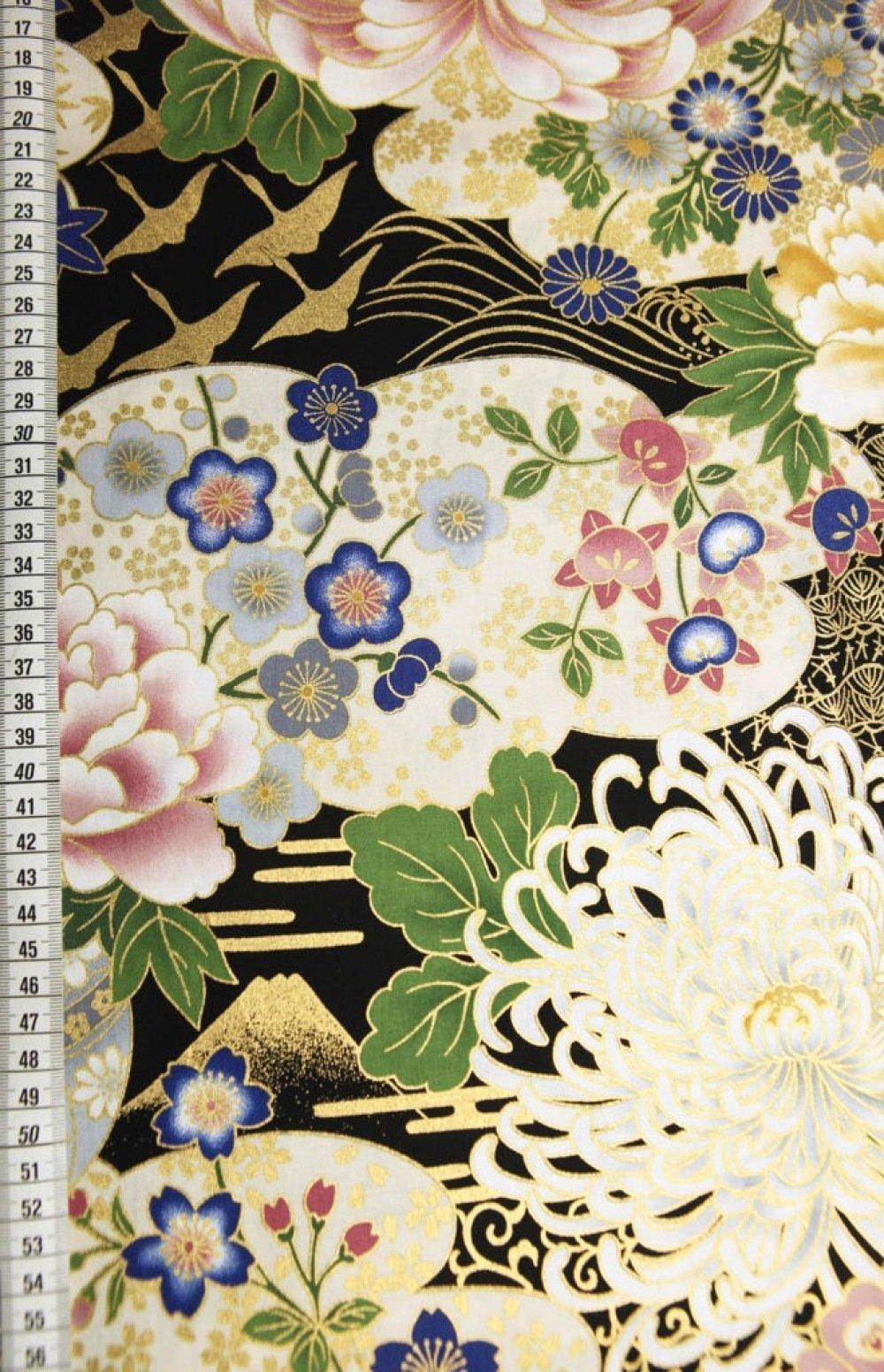 Tissu chrysanthème Japonais