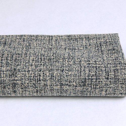 Tissu japonais écru bleu marine