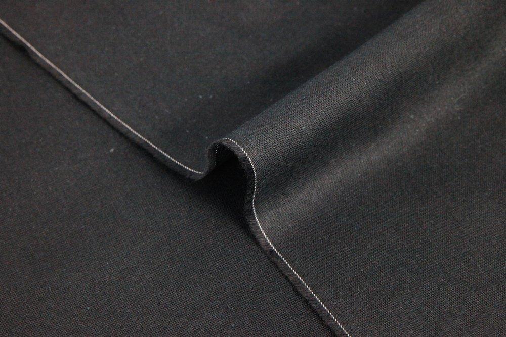 Tissu coton noir uni