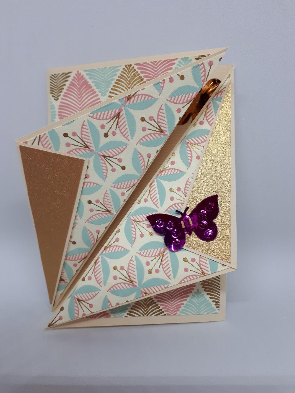 """Carte triangles """"Papillon"""""""