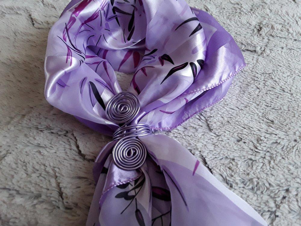 Attache  foulard  violet