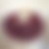 grand snood col écharpe femme - fait  main - coloris bordeaux  - très doux et chaud en mohair