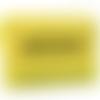 Pochette en cuir jaune et cordon de viscose, soirée, mariage