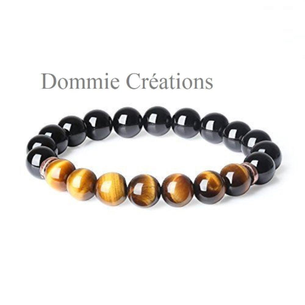 Géométrique création fait main unisexe tigre yeux style Pierre naturelle Perles Bracelets