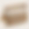 Pochette beige  en raphia de cellulose et coquillages