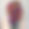 Châle, chèche, étole,foulard, écharpe en laine au crochet style bohème, arc en ciel