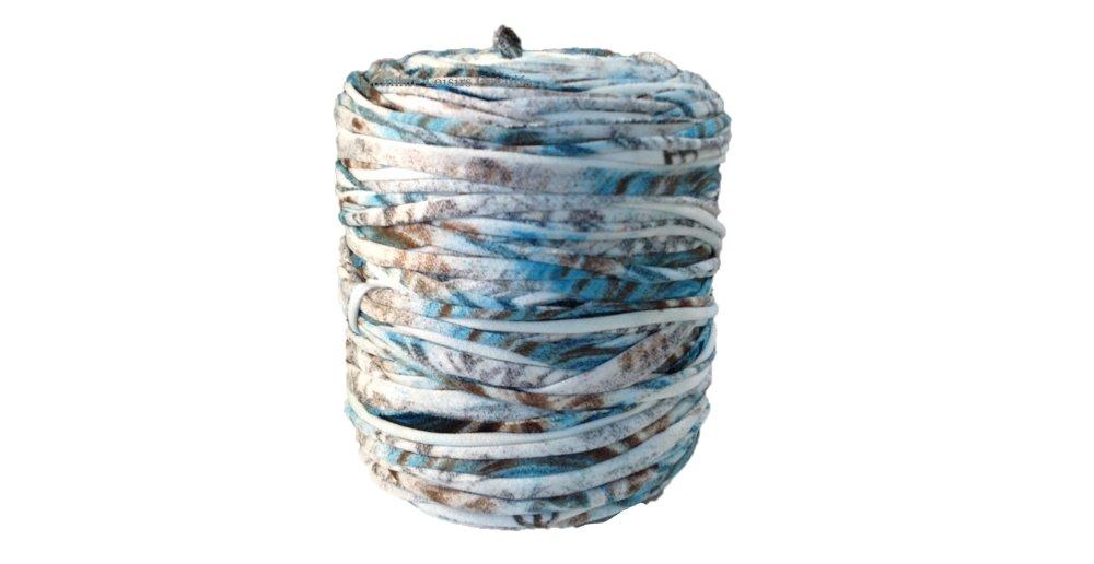 Trapilho Mix Bleu Marron, Lycra