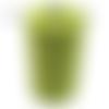 Bobine cordon viscose, vert anis lamé -  réalisation de sacs, pochettes, cabas