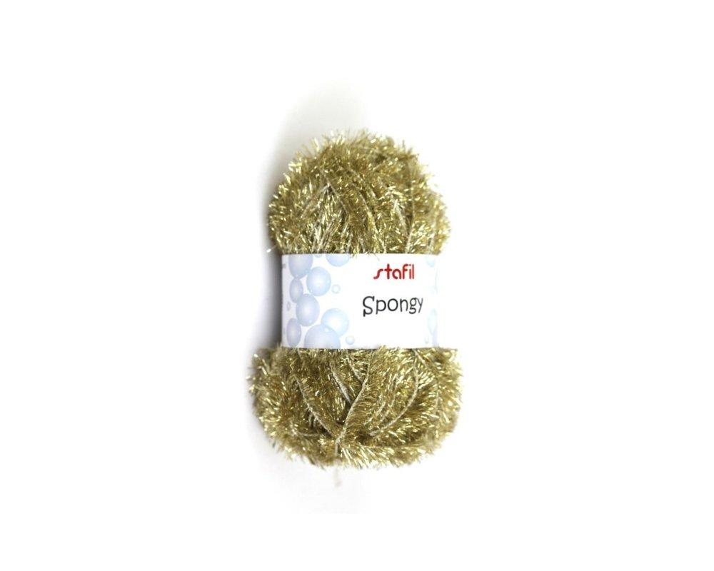 Pelote Créative Bubble, de Stafil , Or, éponges Tawashi,  laine pour éponges