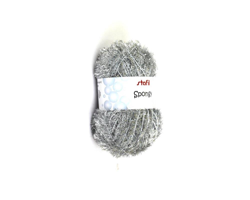 Pelote Créative Bubble, de Stafil , Argent, éponges Tawashi, laine pour éponges