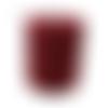 Cordon viscose rouge bordeaux