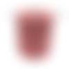 Bobine cordon viscose, vieux rose -  réalisation de sacs, pochettes, cabas