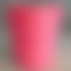 Bobine cordon viscose, rose bubble gum -  réalisation de sacs, pochettes, cabas