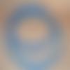 anses rondes pour sac  bleu, 20 cm, effet bambou