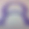 Anses demi cercle pour sac violet, 17x12 cm