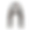 Anses demi cercle pour sac noir, 19x15 cm