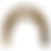 Anses demi cercle pour sac moka marbré, 17x12 cm