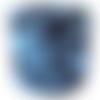 Trapilho bleu et noir coton imprimé