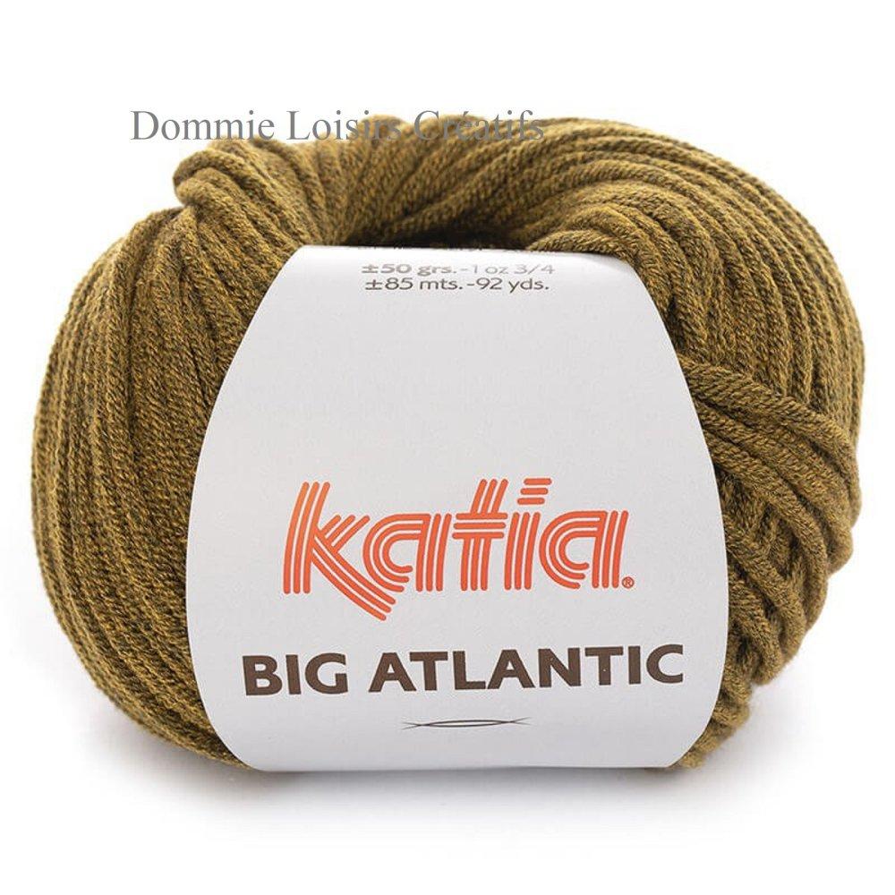 Laine Katia big atlantic, coloris 209, moutarde noir